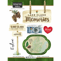 Scrapbook Customs - United States National Parks Collection - Cardstock Stickers - Watercolor - Lake Clark