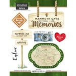 Scrapbook Customs - United States National Parks Collection - Cardstock Stickers - Watercolor - Mammoth Cave