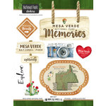 Scrapbook Customs - United States National Parks Collection - Cardstock Stickers - Watercolor - Mesa Verde