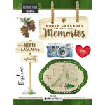 Scrapbook Customs - United States National Parks Collection - Cardstock Stickers - Watercolor - North Cascades