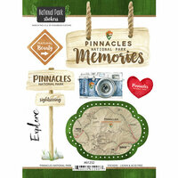 Scrapbook Customs - United States National Parks Collection - Cardstock Stickers - Watercolor - Pinnacles
