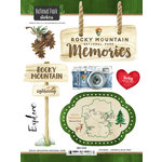 Scrapbook Customs - United States National Parks Collection - Cardstock Stickers - Watercolor - Rocky Mountain