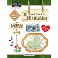 Scrapbook Customs - United States National Parks Collection - Cardstock Stickers - Watercolor - Saguaro