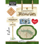 Scrapbook Customs - United States National Parks Collection - Cardstock Stickers - Watercolor - Shenandoah