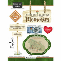 Scrapbook Customs - United States National Parks Collection - Cardstock Stickers - Watercolor - Theodore Roosevelt