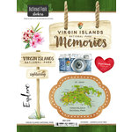 Scrapbook Customs - United States National Parks Collection - Cardstock Stickers - Watercolor - Virgin Islands