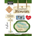 Scrapbook Customs - United States National Parks Collection - Cardstock Stickers - Watercolor - Voyageurs