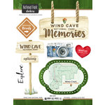 Scrapbook Customs - United States National Parks Collection - Cardstock Stickers - Watercolor - Wind Cave