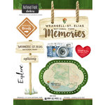 Scrapbook Customs - United States National Parks Collection - Cardstock Stickers - Watercolor - Wrangell - St. Elias