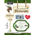 Scrapbook Customs - United States National Parks Collection - Cardstock Stickers - Watercolor - Yellowstone