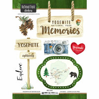 Scrapbook Customs - United States National Parks Collection - Cardstock Stickers - Watercolor - Yosemite