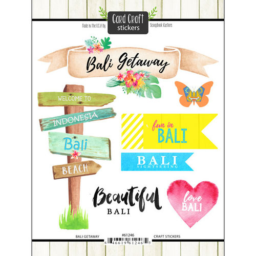 Scrapbook Customs - Getaway Collection - Cardstock Stickers - Bali Getaway
