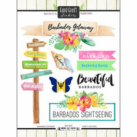 Scrapbook Customs - Getaway Collection - Cardstock Stickers - Barbados Getaway