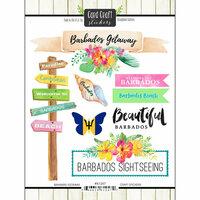 Scrapbook Customs - Getaway Collection - Cardstock Stickers - Barbados Getaway