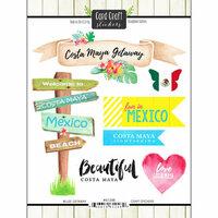 Scrapbook Customs - Getaway Collection - Cardstock Stickers - Costa Maya Getaway