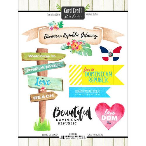 Scrapbook Customs - Getaway Collection - Cardstock Stickers - Dominican Republic Getaway