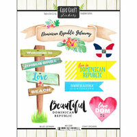 Scrapbook Customs - Getaway Collection - Cardstock Stickers - Dominican Republic Getaway
