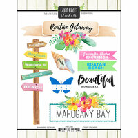 Scrapbook Customs - Getaway Collection - Cardstock Stickers - Roatan, Honduras Getaway