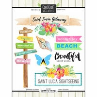 Scrapbook Customs - Getaway Collection - Cardstock Stickers - St. Lucia Getaway