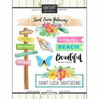Scrapbook Customs - Getaway Collection - Cardstock Stickers - St. Lucia Getaway