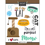 Scrapbook Customs - Cat Lovers Collection - Cardstock Stickers - Me and My Cat