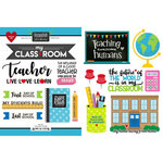 Scrapbook Customs - School Rulers Collection - Cardstock Stickers - Teacher