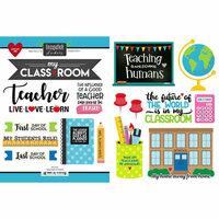 Scrapbook Customs - School Rulers Collection - Cardstock Stickers - Teacher