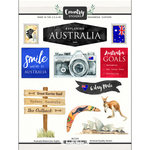 Scrapbook Customs - Cardstock Stickers - Australia Watercolor