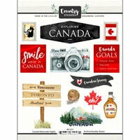 Scrapbook Customs - Cardstock Stickers - Canada Watercolor