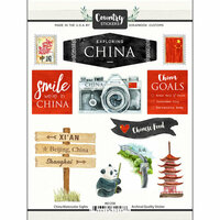 Scrapbook Customs - Cardstock Stickers - China Watercolor