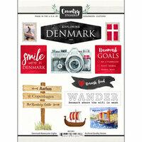 Scrapbook Customs - Cardstock Stickers - Denmark Watercolor
