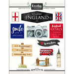 Scrapbook Customs - Cardstock Stickers - England Watercolor