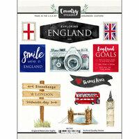 Scrapbook Customs - Cardstock Stickers - England Watercolor