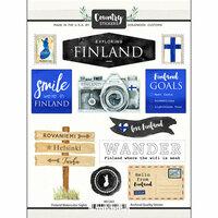 Scrapbook Customs - Cardstock Stickers - Finland Watercolor