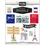 Scrapbook Customs - Cardstock Stickers - France Watercolor