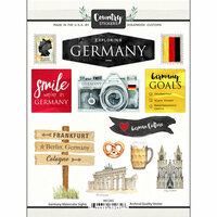 Scrapbook Customs - Cardstock Stickers - Germany Watercolor
