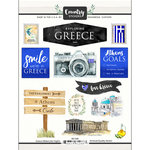 Scrapbook Customs - Cardstock Stickers - Greece Watercolor