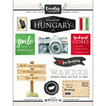 Scrapbook Customs - Cardstock Stickers - Hungary Watercolor