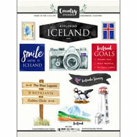 Scrapbook Customs - Cardstock Stickers - Iceland Watercolor