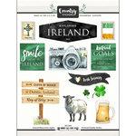 Scrapbook Customs - Cardstock Stickers - Ireland Watercolor