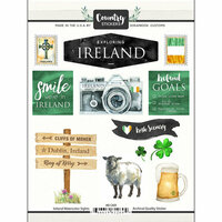Scrapbook Customs - Cardstock Stickers - Ireland Watercolor