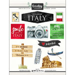 Scrapbook Customs - Cardstock Stickers - Italy Watercolor