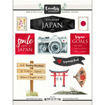 Scrapbook Customs - Cardstock Stickers - Japan Watercolor