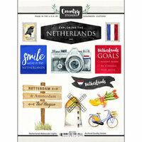 Scrapbook Customs - Cardstock Stickers - Netherlands Watercolor