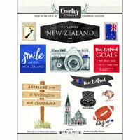 Scrapbook Customs - Cardstock Stickers - New Zealand Watercolor