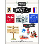 Scrapbook Customs - Cardstock Stickers - Russia Watercolor