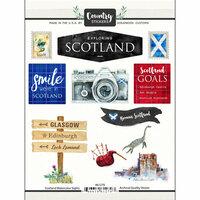 Scrapbook Customs - Cardstock Stickers - Scotland Watercolor