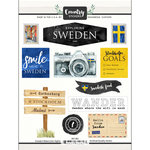 Scrapbook Customs - Cardstock Stickers - Sweden Watercolor