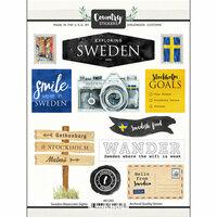 Scrapbook Customs - Cardstock Stickers - Sweden Watercolor