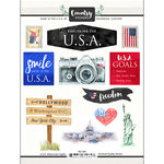 Scrapbook Customs - Cardstock Stickers - USA Watercolor